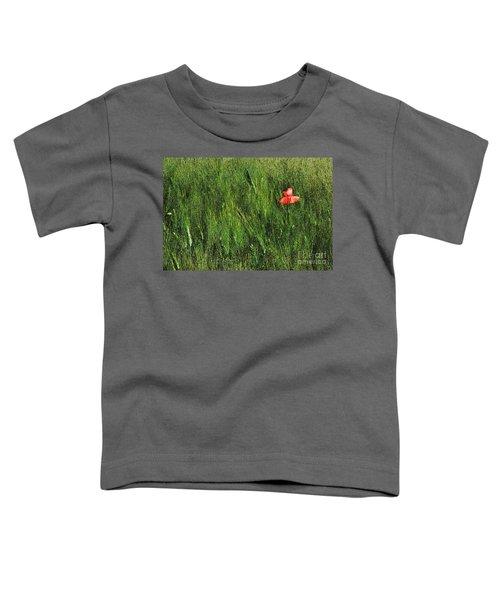 Grassland And Red Poppy Flower 2 Toddler T-Shirt