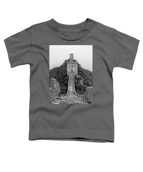 Toddler T-Shirt featuring the photograph Great Wall 1, Jinshanling, 2016 by Hitendra SINKAR