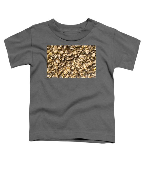 Gravel Stones On A Wall Toddler T-Shirt