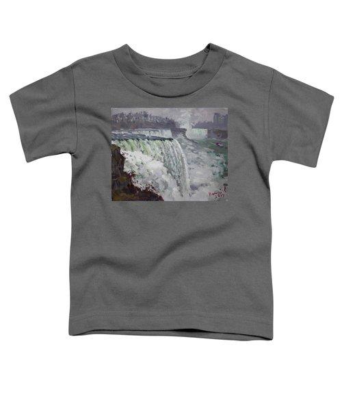 Gray And Cold At American Falls Toddler T-Shirt
