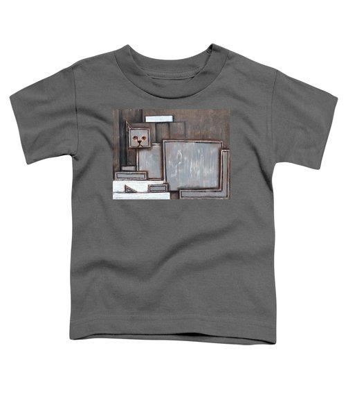 Tommervik Gray And White Cat Art Print Toddler T-Shirt