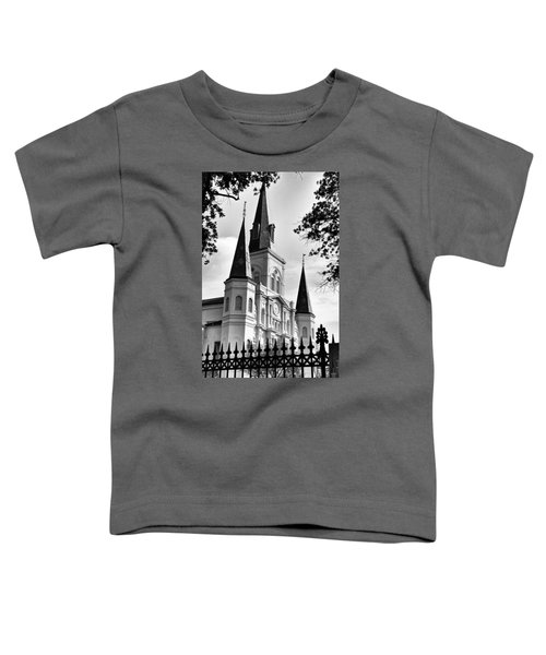 Grayscale St. Louis Cathedral Toddler T-Shirt