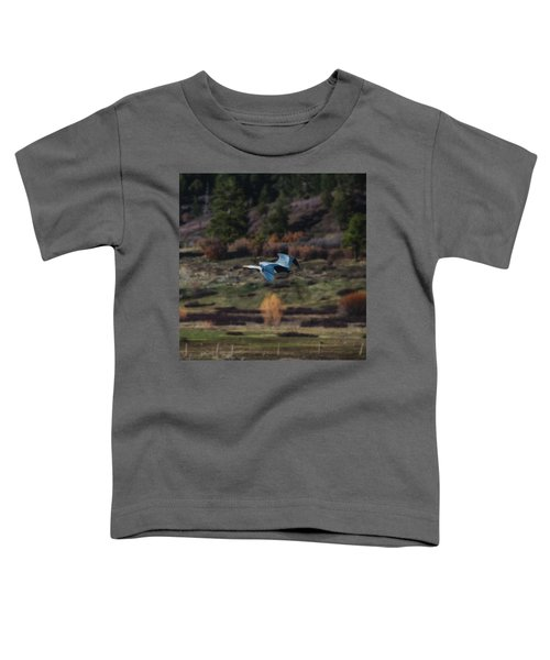 Great Blue Heron In Flight II Toddler T-Shirt