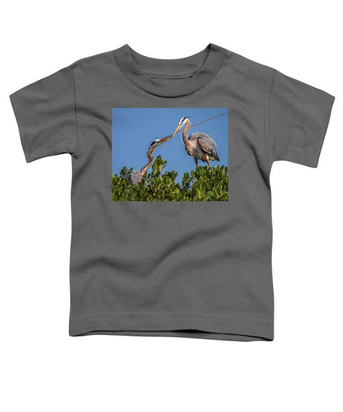 Great Blue Heron Nest Building Toddler T-Shirt