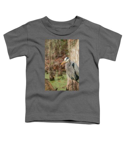 Great Blue Heron On Guard Toddler T-Shirt