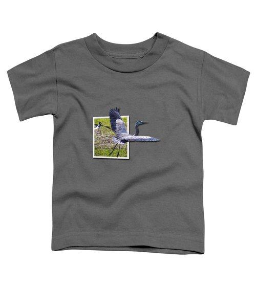 Great Blue Heron Takes Flight Toddler T-Shirt