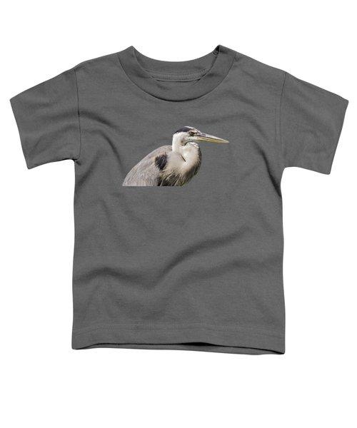 Great Blue Heron Transparency Toddler T-Shirt