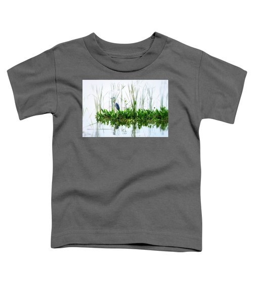 Great Blue On Green Island Toddler T-Shirt
