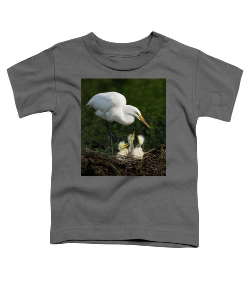 Great Egret With Chicks Toddler T-Shirt