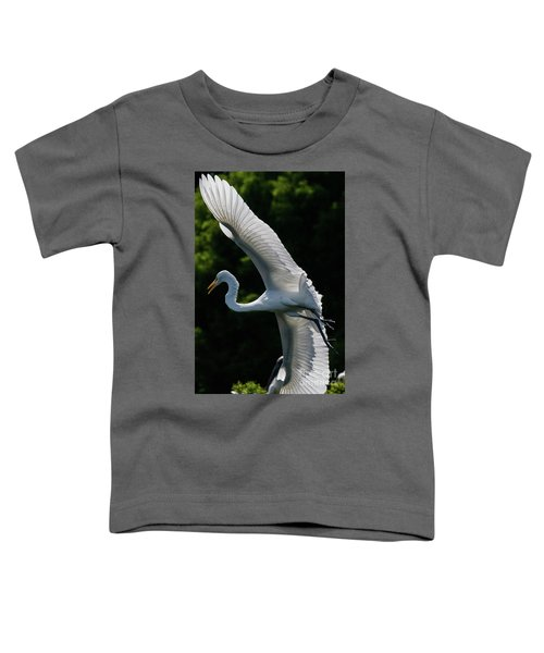 Great Egret's Wingspan Toddler T-Shirt