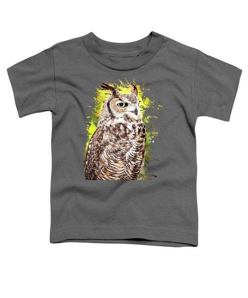 Great Horned Owl Toddler T-Shirt