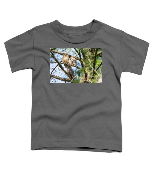Great Horned Owl Family Toddler T-Shirt