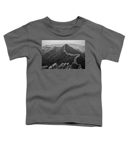 Toddler T-Shirt featuring the photograph Great Wall 2, Jinshanling, 2016 by Hitendra SINKAR