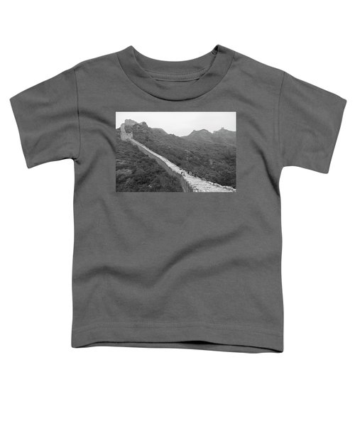 Toddler T-Shirt featuring the photograph Great Wall 4, Jinshanling, 2016 by Hitendra SINKAR