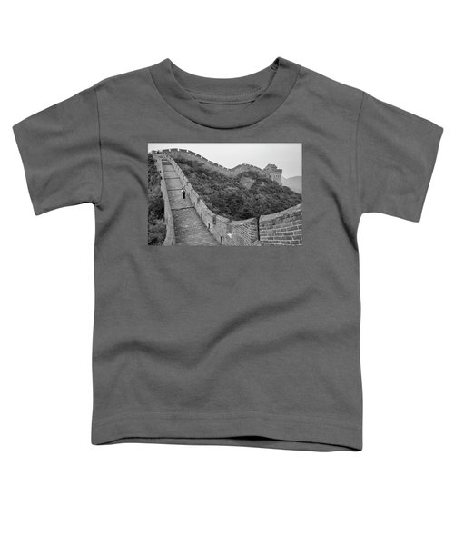 Toddler T-Shirt featuring the photograph Great Wall 9, Jinshanling, 2016 by Hitendra SINKAR