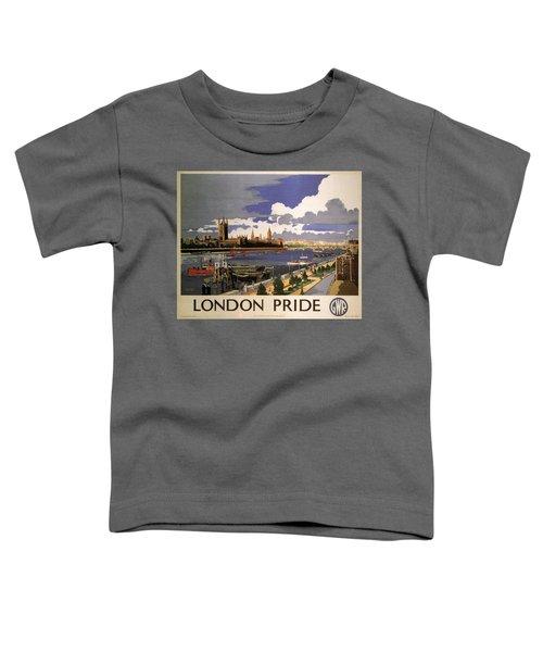 Great Western Railway - London Pride - Retro Travel Poster - Vintage Poster Toddler T-Shirt