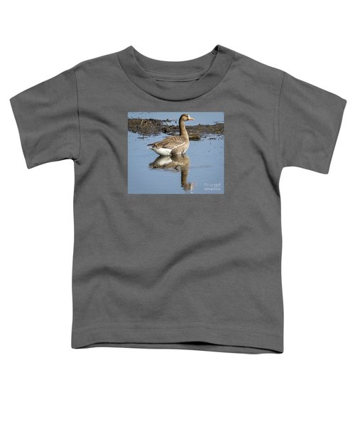 Toddler T-Shirt featuring the photograph Great White Fronted Goose by Ricky L Jones