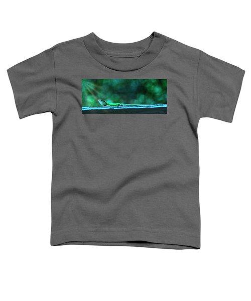 Green Anole Lizard Toddler T-Shirt