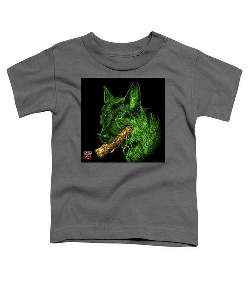 Green German Shepherd And Toy - 0745 F Toddler T-Shirt