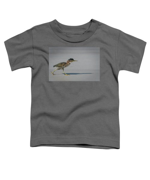 Green Heron On A Mission Toddler T-Shirt