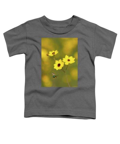Green Metallic Bee Toddler T-Shirt