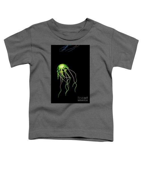 Green Neon Jellyfish Toddler T-Shirt