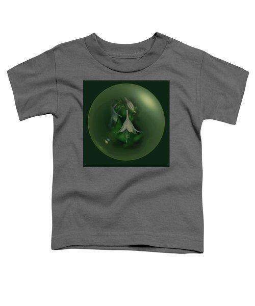 Green Orb Flower Toddler T-Shirt