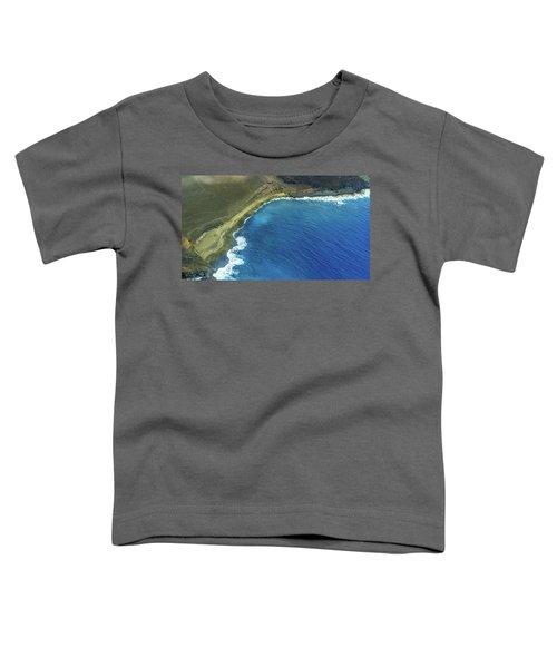 Green Sand Beach Aerial Toddler T-Shirt
