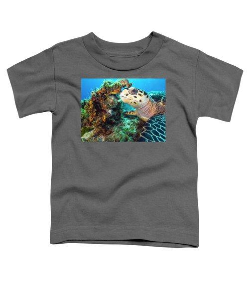 Green Turtle Profile Toddler T-Shirt