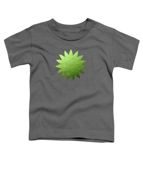Greenery Ombre Gradient Geometric Mesh Toddler T-Shirt
