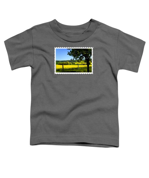 Greens And Golds Of Spring Farm Field Toddler T-Shirt