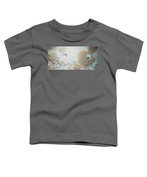 Grey Cloudy Flight By Dove Toddler T-Shirt