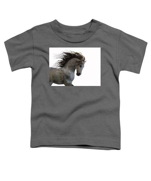 Grey On White Toddler T-Shirt