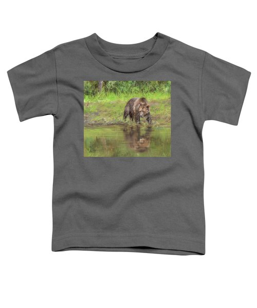 Grizzly Bear At Water's Edge Toddler T-Shirt