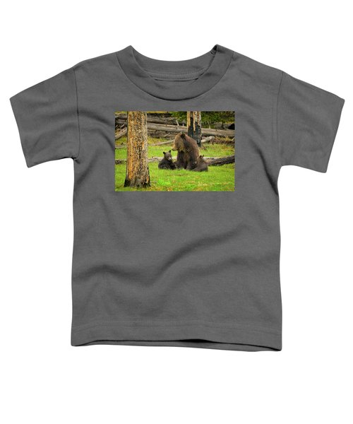 Toddler T-Shirt featuring the photograph Grizzly Family Gathering by Greg Norrell