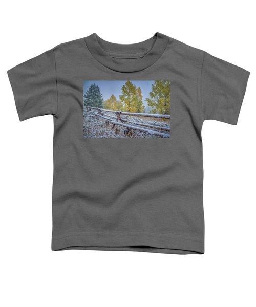 Gros Ventre Grand Teton Fall Snowfall Fence Toddler T-Shirt