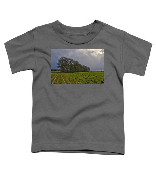 Group Of Trees Against A Dark Sky Toddler T-Shirt