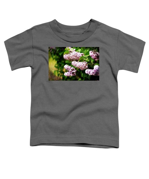 Toddler T-Shirt featuring the photograph Grunge Lilacs by Antonio Romero