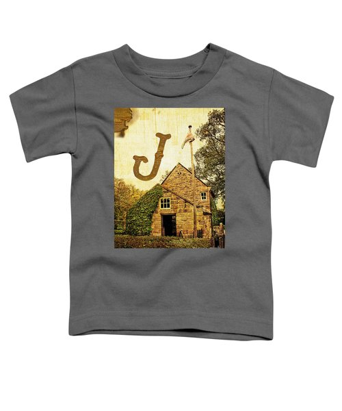 Grungy Melbourne Australia Alphabet Series Letter J Captain Jame Toddler T-Shirt