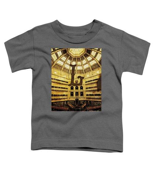 Grungy Melbourne Australia Alphabet Series Letter L State Librar Toddler T-Shirt