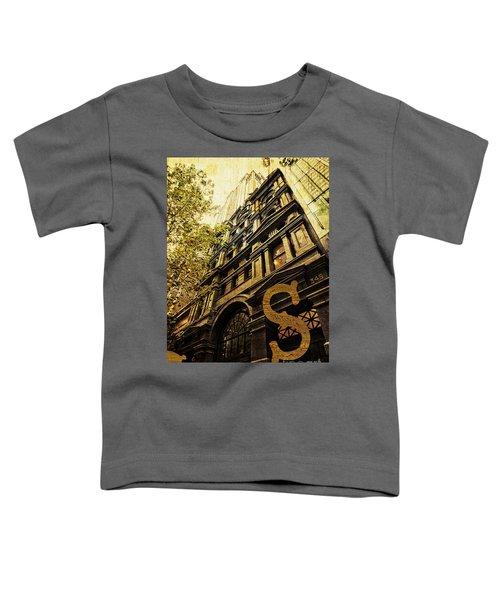 Grungy Melbourne Australia Alphabet Series Letter S Collins Stre Toddler T-Shirt