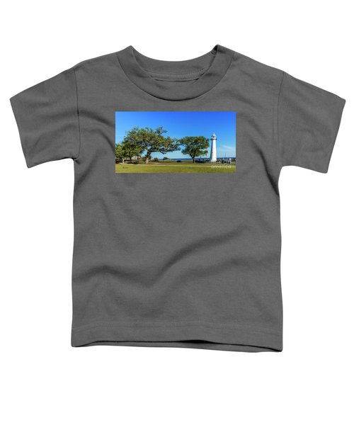 Gulf Coast Lighthouse Seascape Biloxi Ms 3663b Toddler T-Shirt