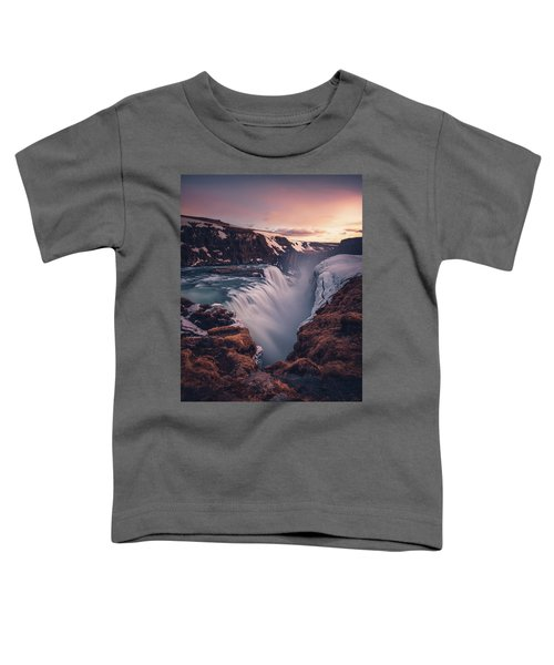 Gullfoss Sunset Toddler T-Shirt
