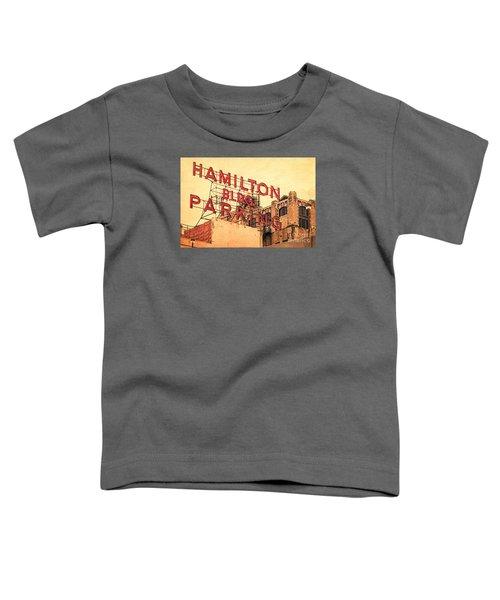 Hamilton Bldg Parking Sign Toddler T-Shirt