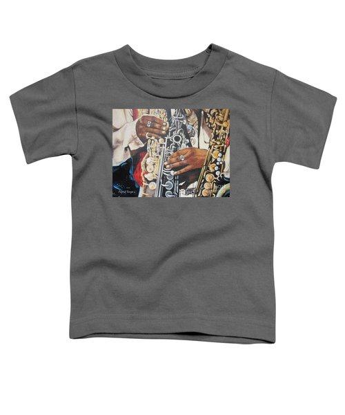 Blaa Kattproduksjoner        Hands Of Music - 2 Toddler T-Shirt