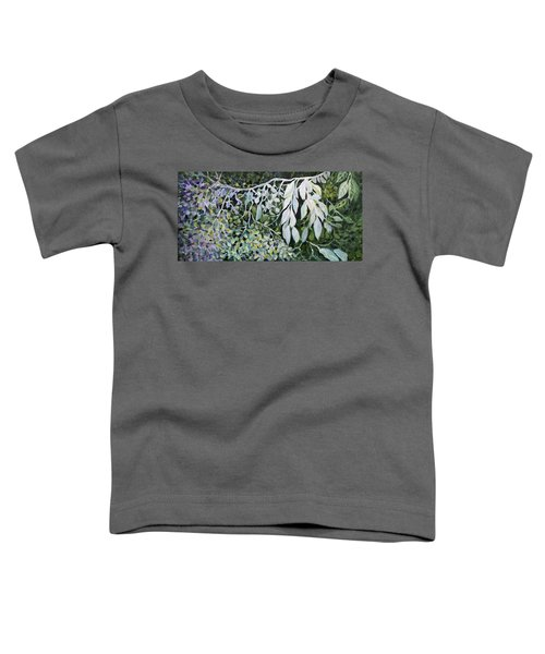 Toddler T-Shirt featuring the painting Silver Spendor by Joanne Smoley