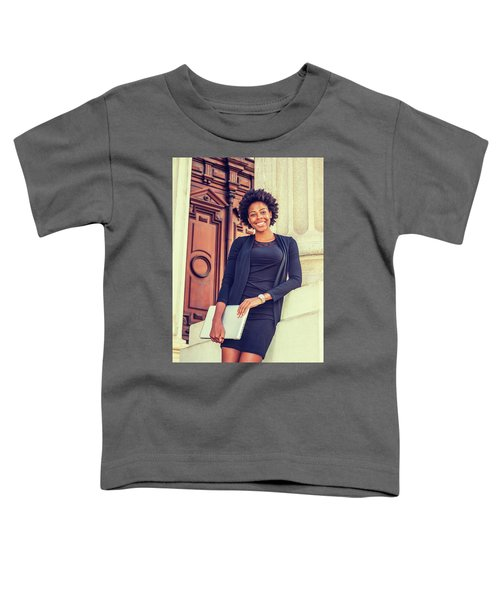Happy African American College Student Toddler T-Shirt
