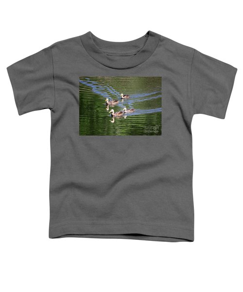 Happy Ducks On The Pond Toddler T-Shirt