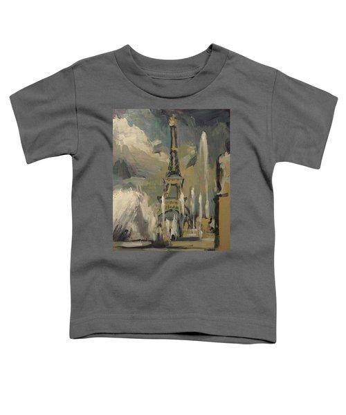 Happy Fountains At Trocadero Toddler T-Shirt