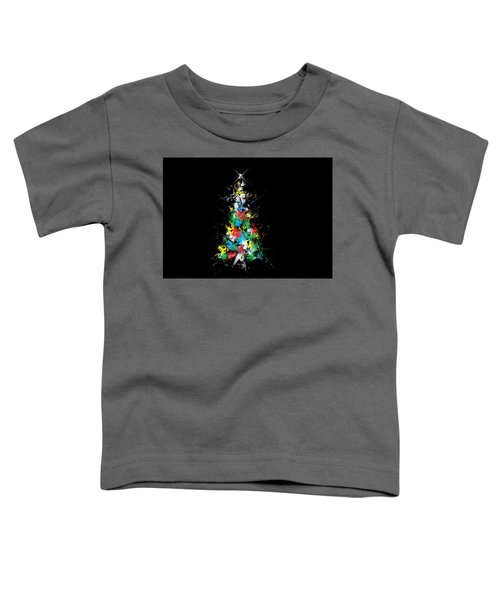 Happy Holidays - Abstract Tree - Horizontal Toddler T-Shirt
